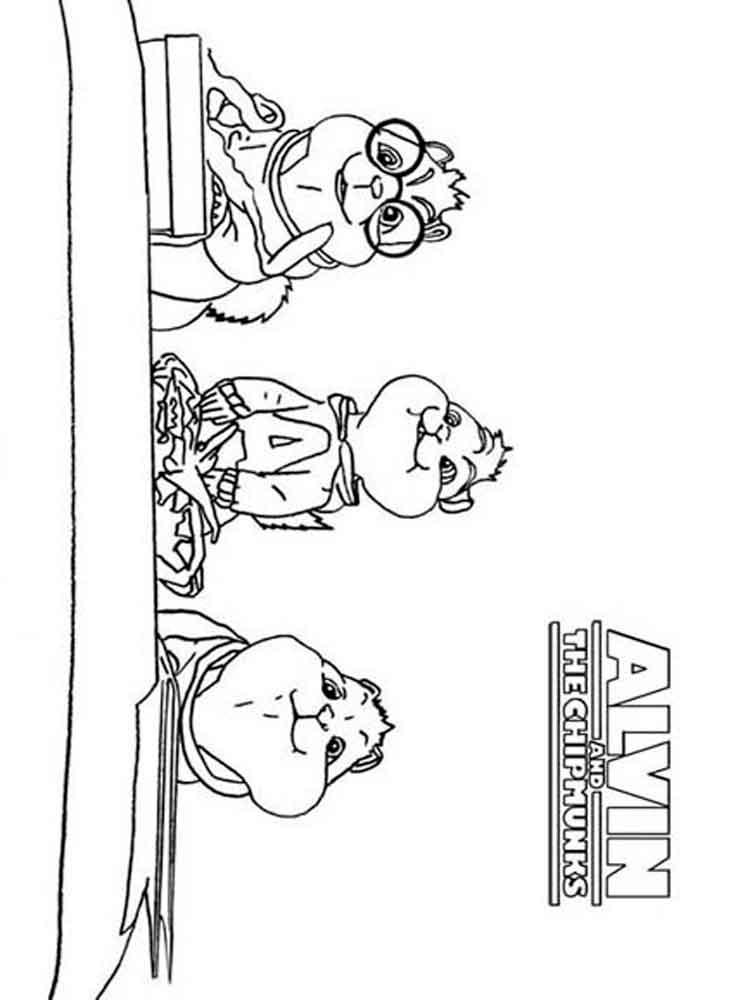 ausmalbilder alvin und die chipmunks  malvorlagen