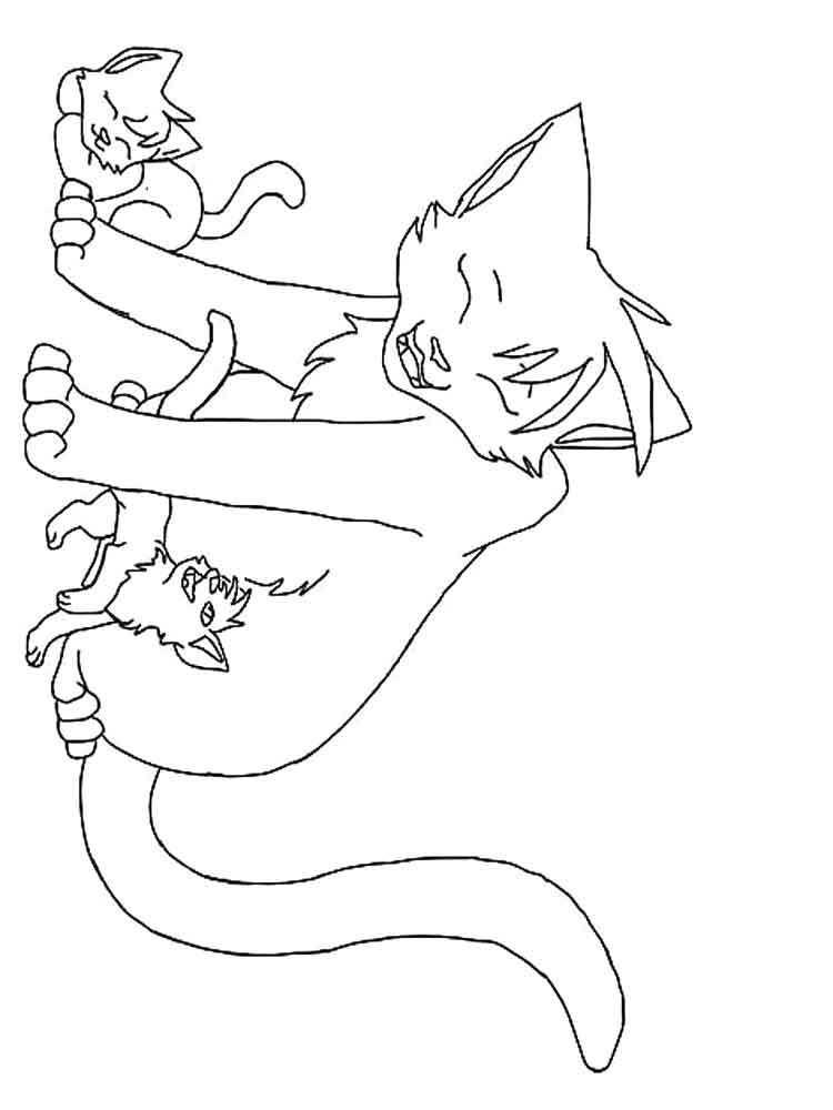Free Printable Warrior Cat Coloring Pages For Kids