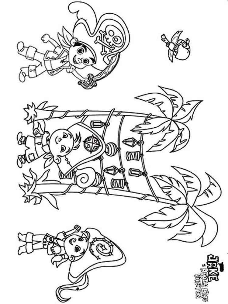ausmalbilder jake und die nimmerland-piraten - malvorlagen