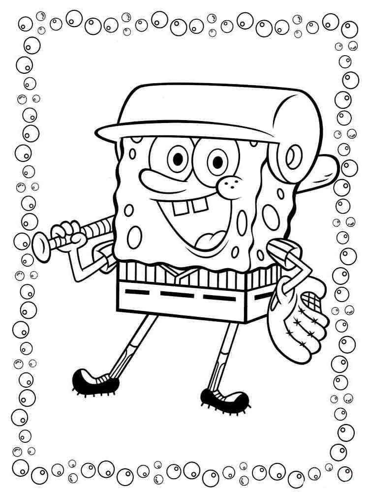 ausmalbilder spongebob schwammkopf  malvorlagen kostenlos