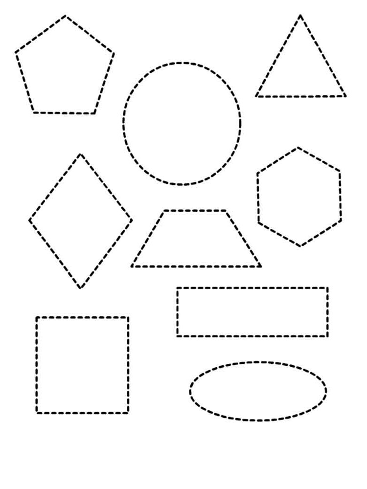 ausmalbilder geometrische formen  malvorlagen kostenlos