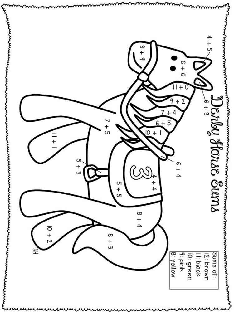 Addition coloring pages for kids. Free printable Addition ...