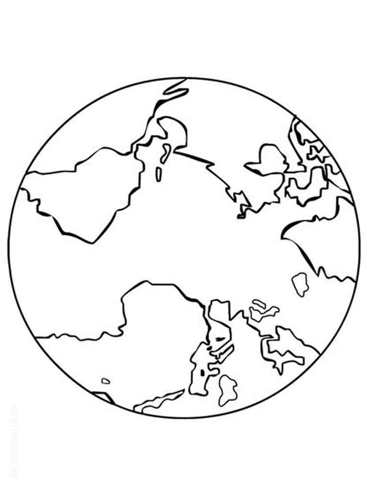 Free Printable Planet Earth Coloring Pages For Kids
