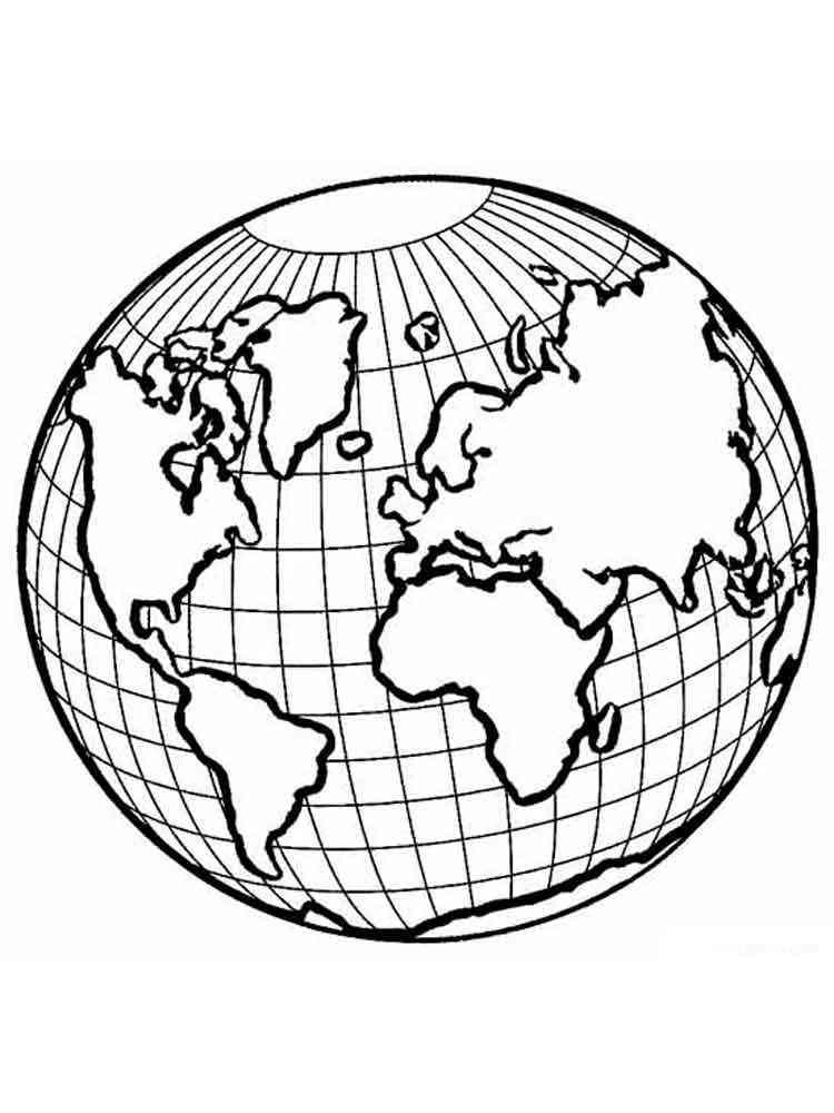 ausmalbilder planeten erde  malvorlagen kostenlos zum