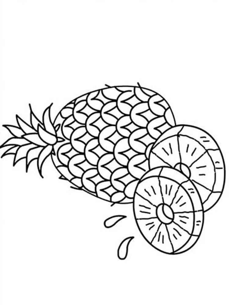 malvorlagen ananas  ausmalbilder kostenlos zum ausdrucken