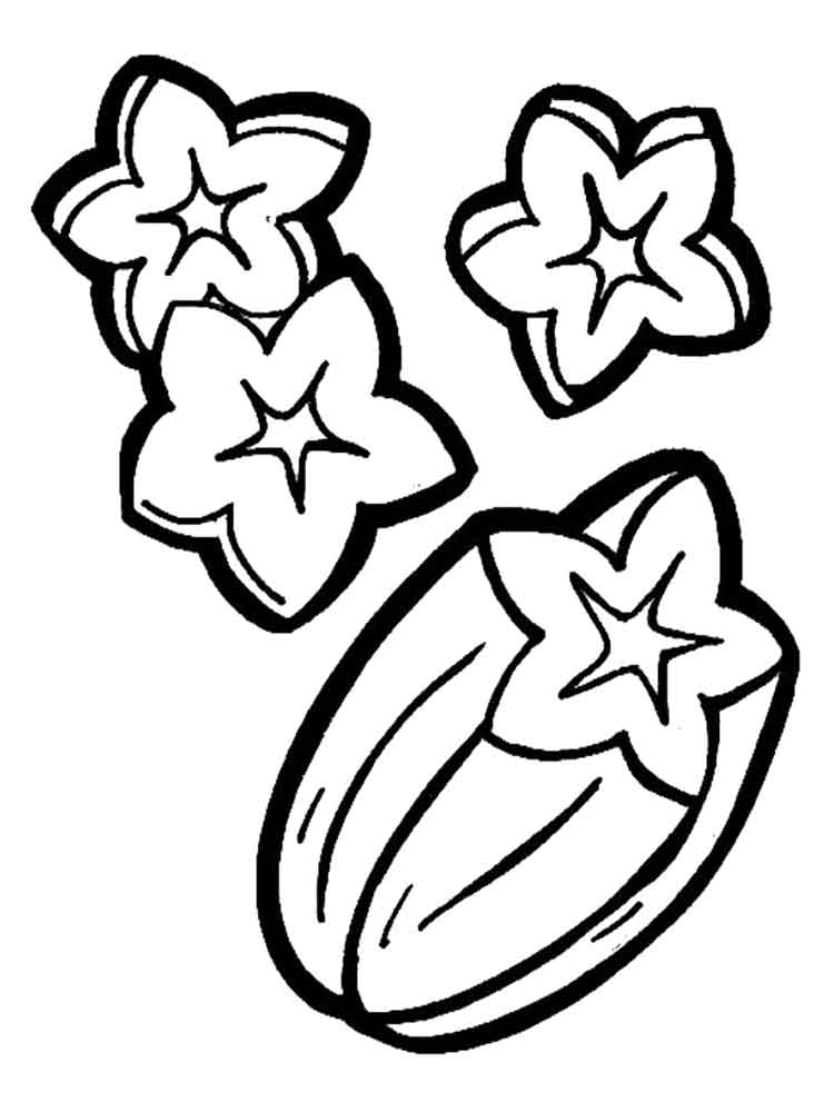 Free Printable Star Fruit Coloring Pages For Kids