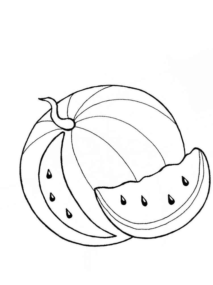 Free printable Watermelon coloring pages for kids