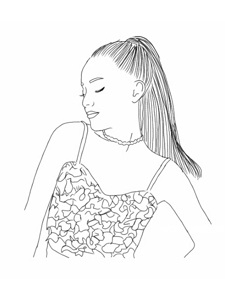 Free Printable Ariana Grande Coloring Pages For Kids