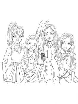 BlackPink-coloring-pages-1