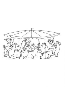 Carousel-coloring-pages-1