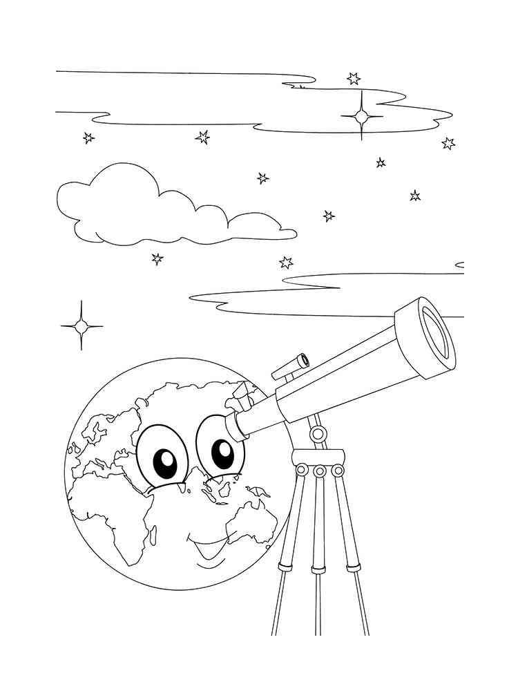Download Coloriages Télescope gratuits à imprimer pour les enfants