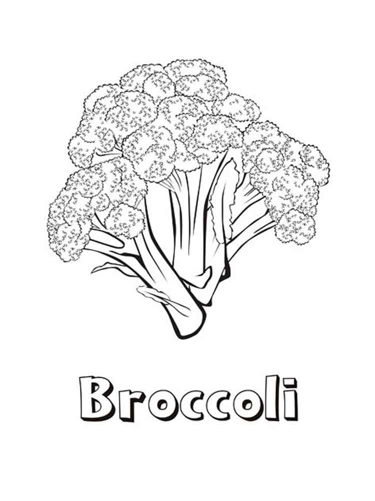 Free Printable Broccoli Coloring Pages For Kids