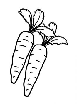 Vegetables-Carrot-coloring-page-1