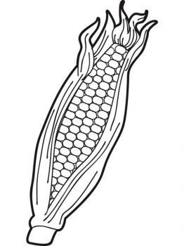 Vegetables-Corn-coloring-page-1