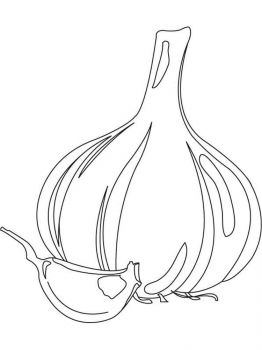 Vegetables-Garlic-coloring-page-4