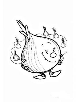 Vegetables-Onion-coloring-page-2