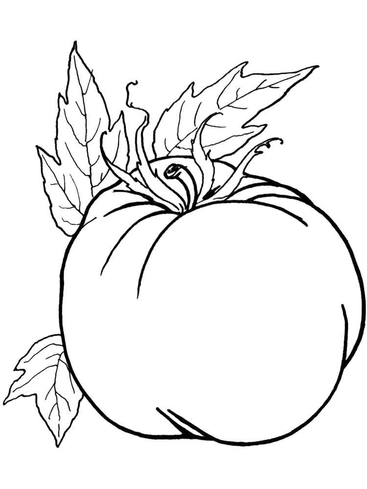Free printable Tomato coloring pages for kids
