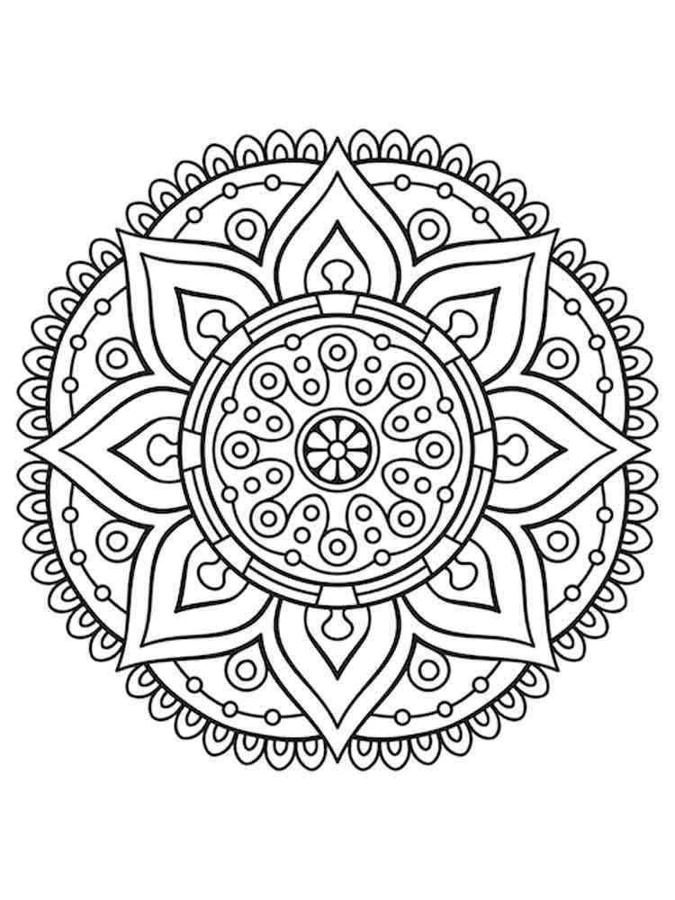 Free Chakra Mandalas Coloring Pages Printable Chakra