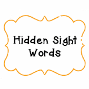 Ausmalbilder Hidden Sight Word