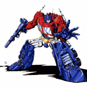 Transformer Optimus Prime para colorir