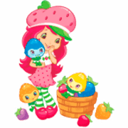 Strawberry Shortcake and Berrykin coloring pages