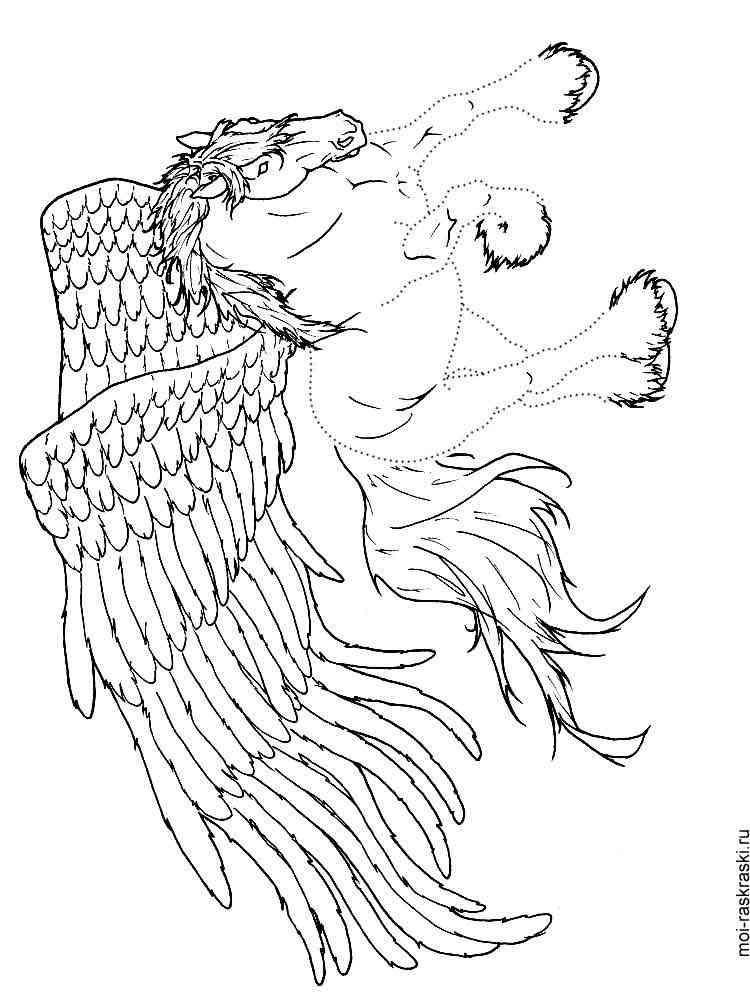 ausmalbilder pegasus  malvorlagen kostenlos zum ausdrucken