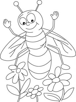 coloring-pages-animals-bee-1