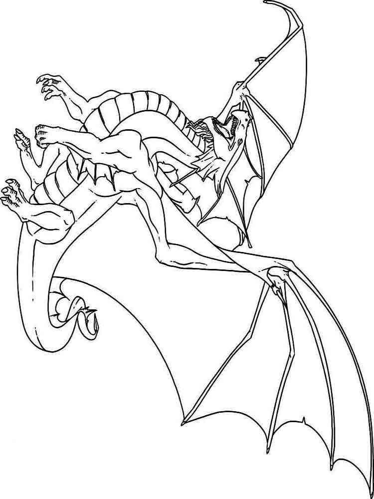 Ausmalbilder Drachen- Malvorlagen Kostenlos zum Ausdrucken