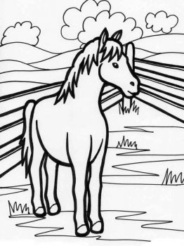 coloring-pages-animals-horse-15