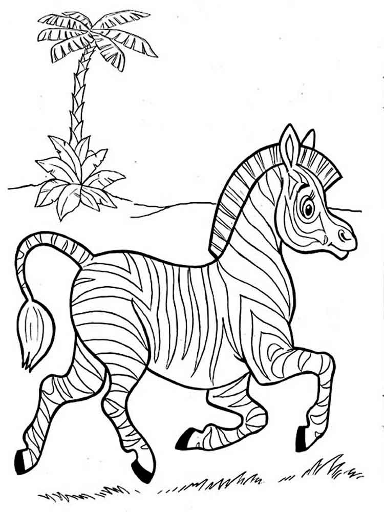 - Free Printable Zebra Coloring Pages For Kids