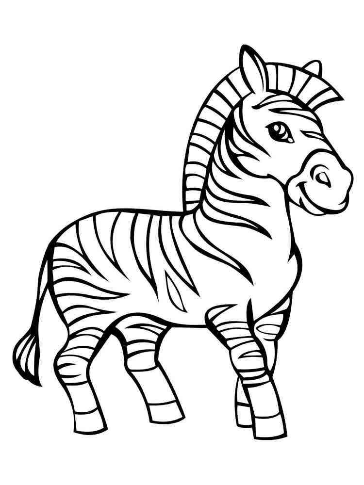 ausmalbilder zebras - malvorlagen kostenlos zum ausdrucken