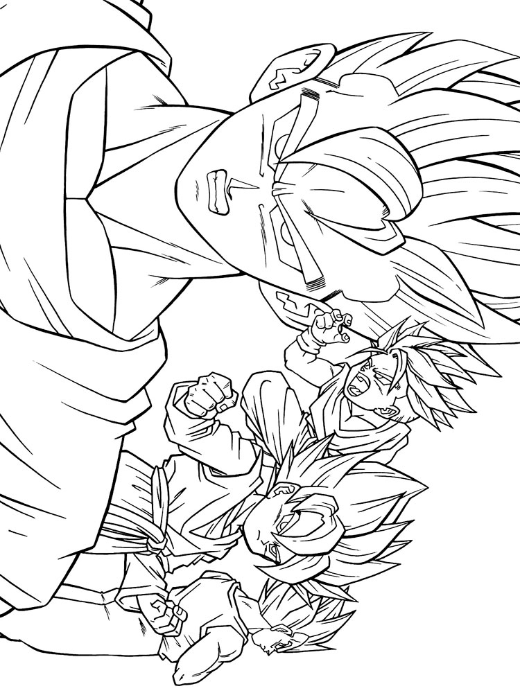 Free Printable Dragon Ball Z Coloring Pages For Boys