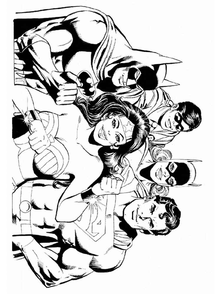 Free printable Justice League coloring pages for kids