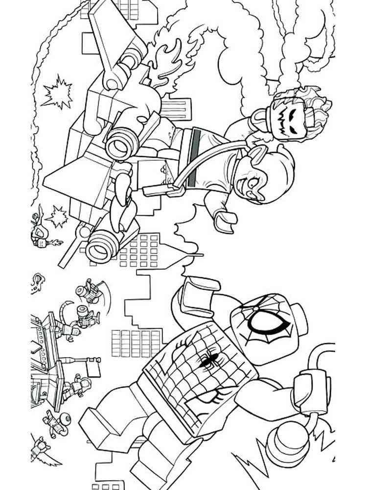 coloring page lego avengers  275 popular svg design