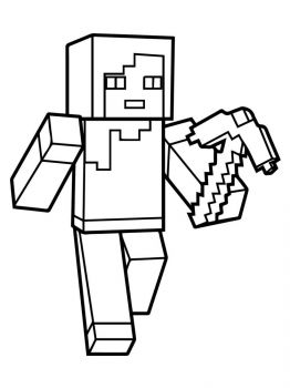 Minecraft-Steve-coloring-pages-1
