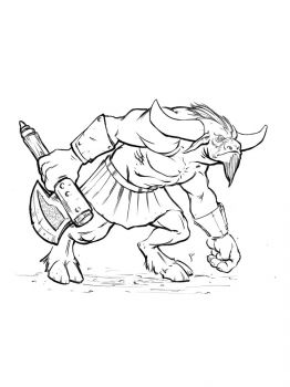 Minotaur-coloring-pages-1