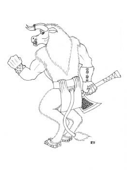 Minotaur-coloring-pages-11