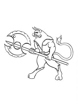Minotaur-coloring-pages-3