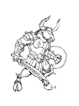 Minotaur-coloring-pages-4