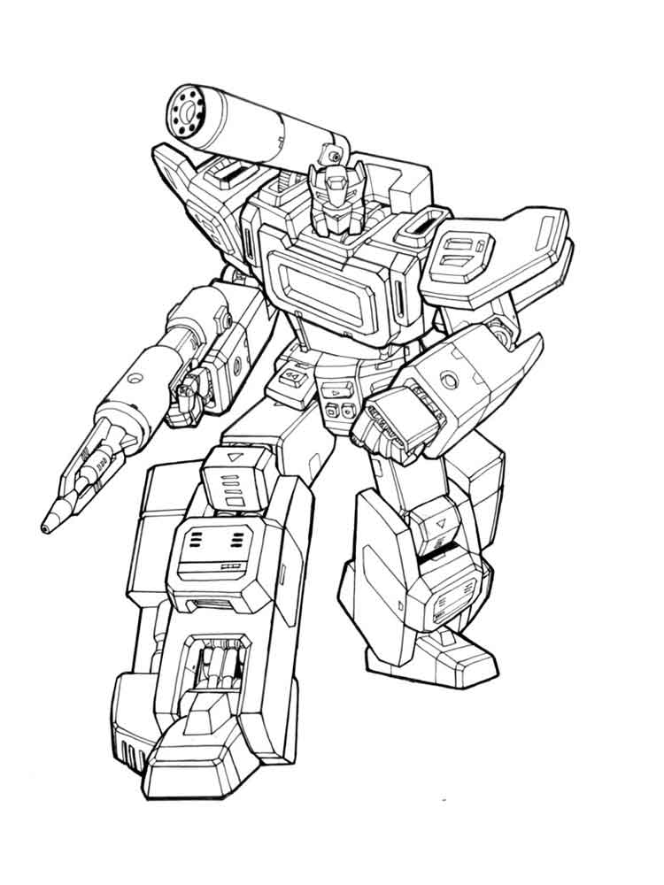 Free Printable Transformers Autobot Coloring Pages For Boys