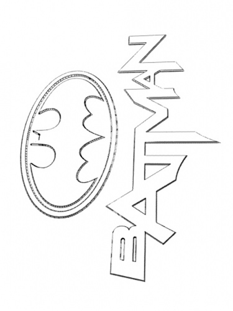 photograph relating to Free Printable Batman Logo Coloring Pages identified as Absolutely free printable Batman Brand coloring webpages For Little ones