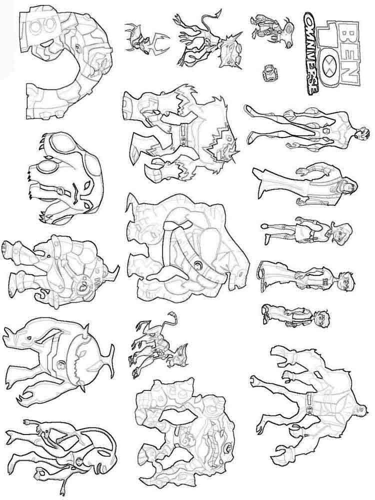 ausmalbilder ben 10  malvorlagen kostenlos zum ausdrucken