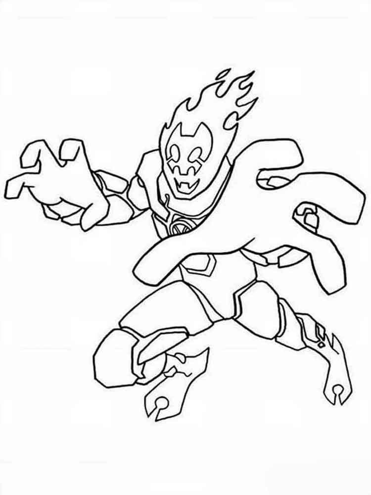 - Free Printable Ben 10 Coloring Pages For Boys
