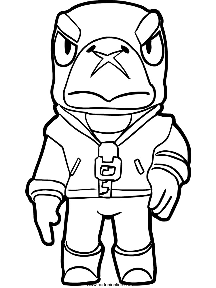 Free printable Brawl Stars Crow coloring pages for kids