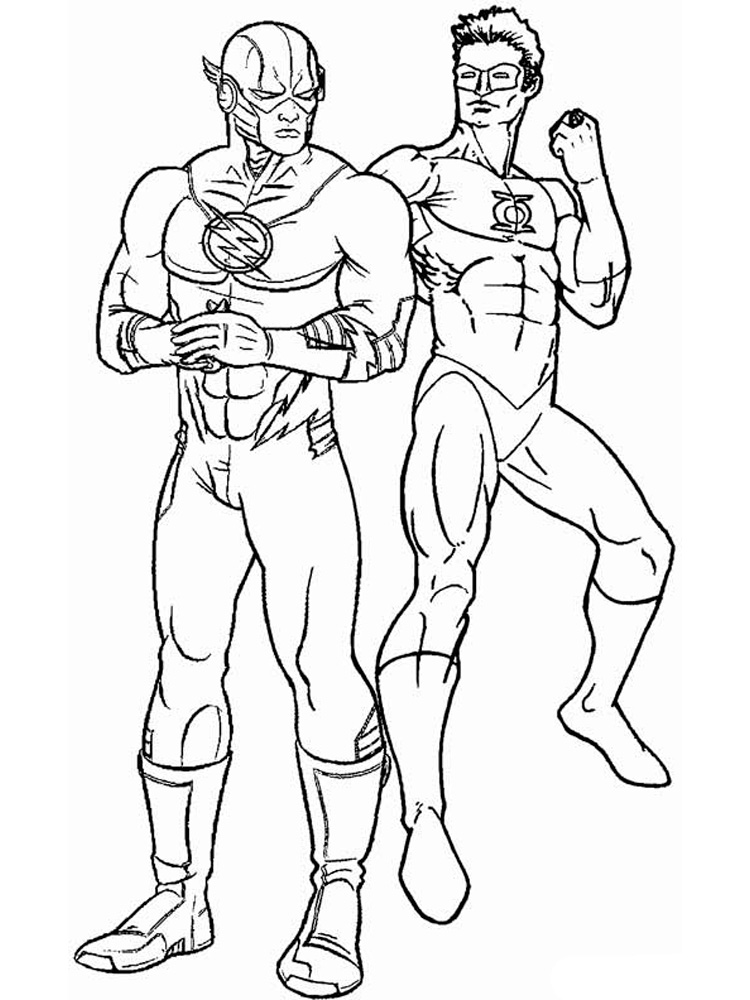 Free Printable Dc Comics Flash Coloring Pages For Boys