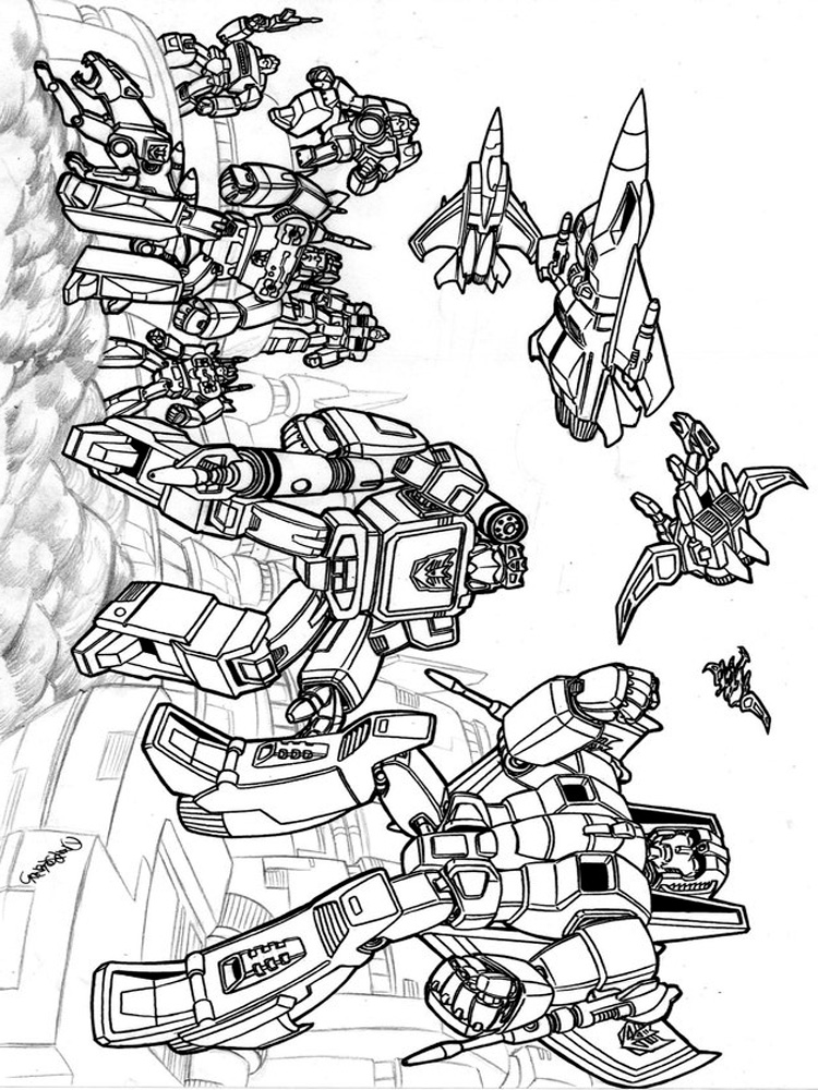 Free Printable Transformers Decepticon Coloring Pages For Kids