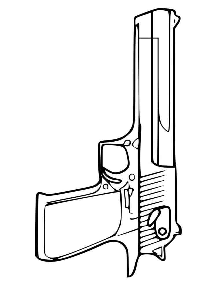 ausmalbilder pistole  malvorlagen kostenlos zum ausdrucken