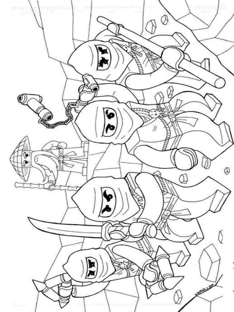 Free printable Lego Ninjago coloring pages For Boys