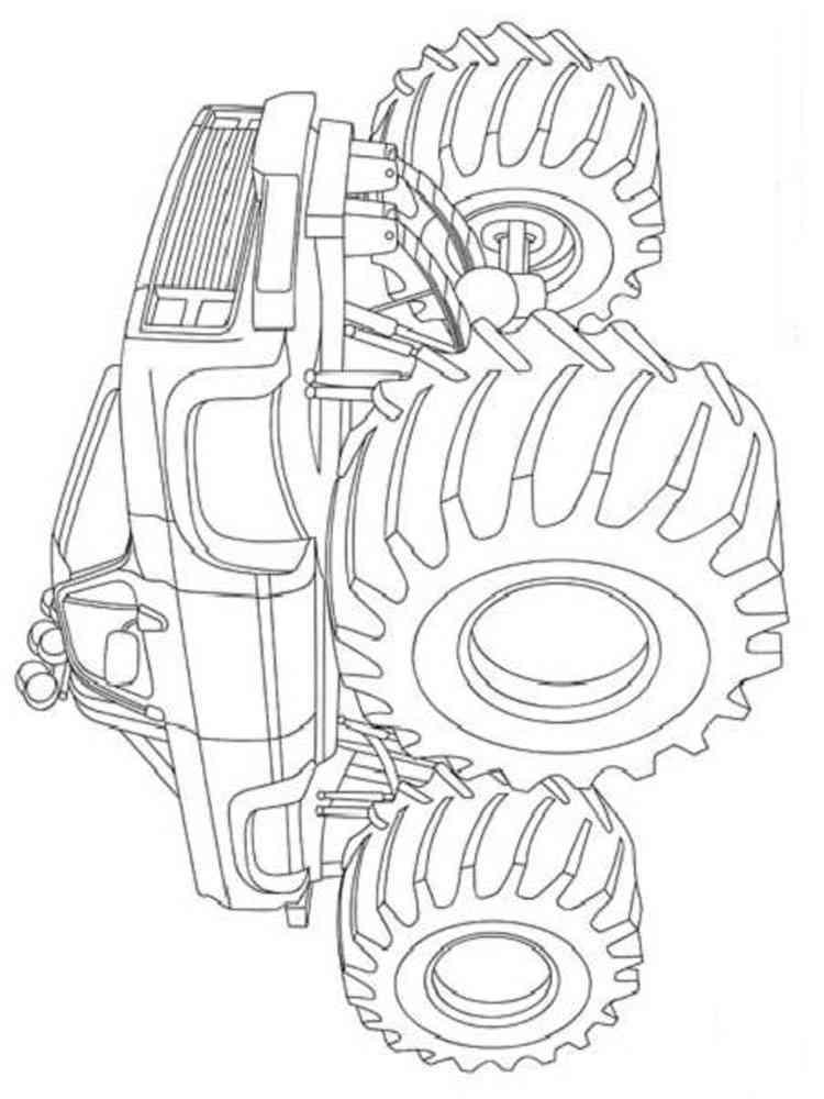 ausmalbilder monster truck  malvorlagen kostenlos zum