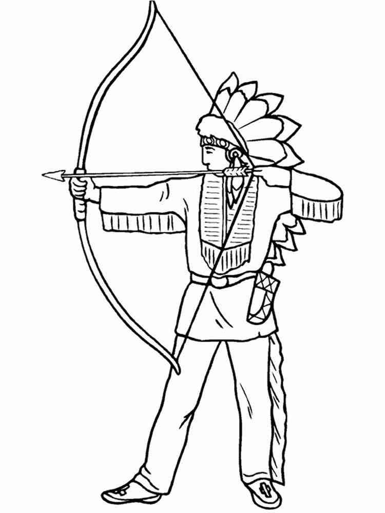 ausmalbilder indianer - malvorlagen kostenlos zum ausdrucken